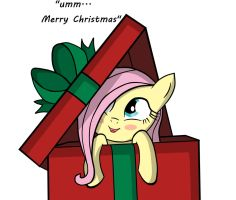 Fluttershy for Christmas by NeoTopazz