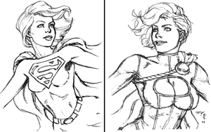 Supergirl and Power Girl 8-11 by timflanagan