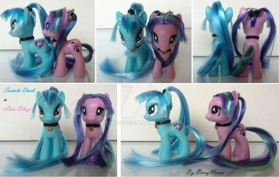 My little Pony Customs G4 Sonata Dusk + Aria Blaze by BerryMouse
