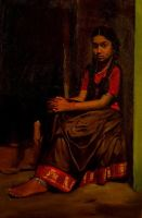 Paintings of Traditional Tamil Girls by HeartHuntrz