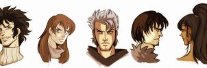fist of the northstar - heads by spoonybards