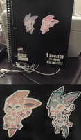 Sylveon Stickers by Sweet-n-treat