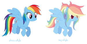 Rainbow Dash Canon And My Style by baep-sae