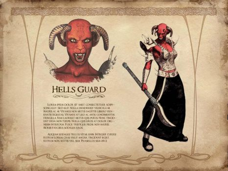 Hell's Guard - Concept Art by graelignites