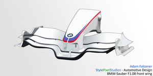 BMW Sauber f1.08 front wing by StylePixelStudios