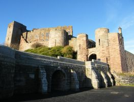 Bamburgh Castle Background stock 7 by Queenselphie