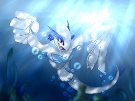 Lugia - Under the Sea by Gem-n-Ems