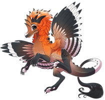 If birds were dragons: Hoopoe by Kiwibon