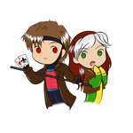 Rogue and Gambit by Aizu-chan