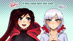 [RWBY] Hairstyle Swap! by Reef1600