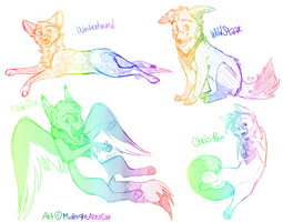 Rainbow Sketches by MidnightAlleyCat