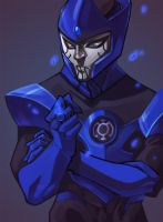Blue Lantern by vanduobones