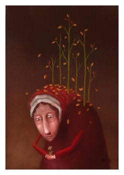 Portrait of an Old Woman by pesare