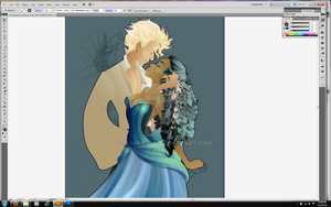 He Harvests the Moon WIP by Asher-Bee