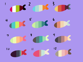 Emergency fishy palette adopts [CLOSED] by TeaLattes