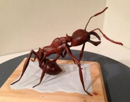 Ant Rider - In progress by SculptorScotty