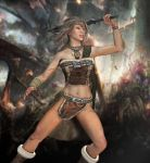 Warrior Girl - Posed by mhgraphx01