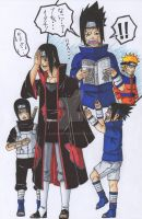 when sasuke reads the manga by alpha89