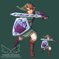 Pixel Twilight Princess Link (1 1 2017) by theskywaker