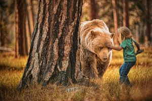 Beorn and the Bear Detail by swiftmoonphoto
