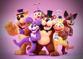 Happy First Birthday FNaF! by SmashingRenders