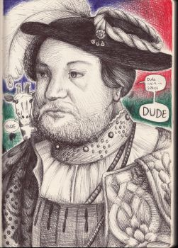 Henry VIII. In Space. With a Giraffe. by chibikelzafox