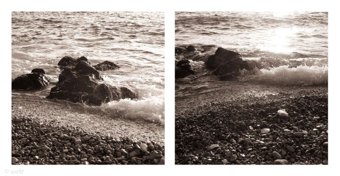 Waves diptych by Suvetar