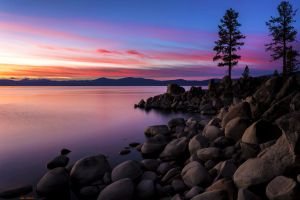 East Shore Tahoe November Evening by sellsworth