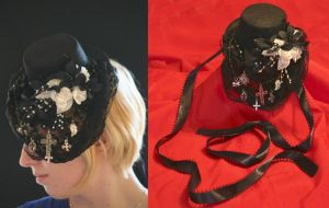 gothic lolita tophat by TimeEternal