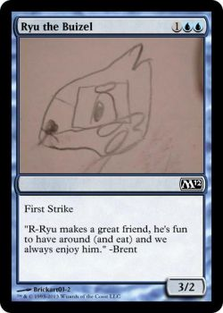 (Custom magic the gathering card) Ryu the Buizel by Brickart03-2