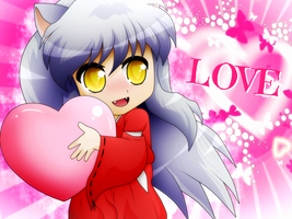 Wallpaper - Love InuYasha by SoulEevee99