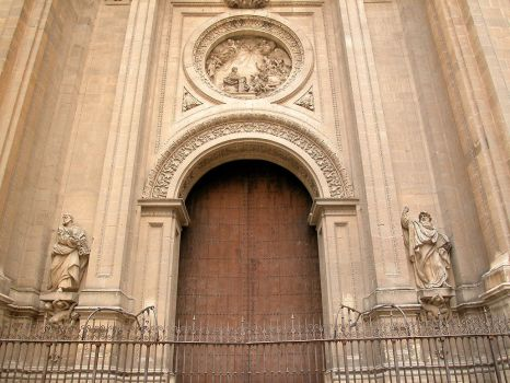 cathedral doors by welder-stock