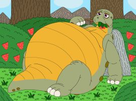 Spike eats berries and then gets fatter by MCsaurus