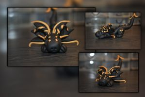 Sneaky Gold Baby Dragon by KirstenBerryCrafts