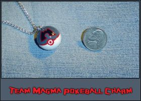 Pokemon - Magma Pokeball Charm by YellerCrakka