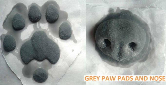 Silicone Hand Paw Pads and Nose by Yuki-Moon
