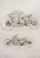 GN-7 futuristic motorcycle (concept) by agarest-of-war