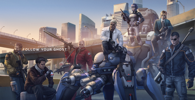 Ghost in the Shell -Section 9 by AgusSW