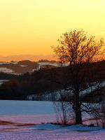 Colorful winter wonderland sundown V by patrickjobst