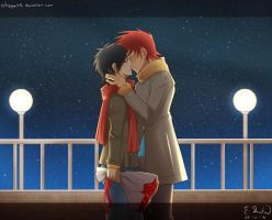 Kiss under the stars by catnappe143