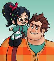 WIR-Ralph and Vanellope by nanashi