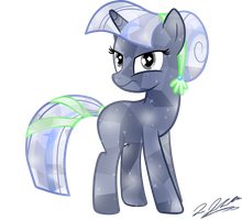 Crystal Pony Silverlay by tsand106