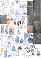 LoO: Sketch Dump by Kawaii-Miho