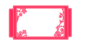 Pink Glowing Frame by CandyCaneEditor