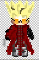 Vash the stamped pixil art by venbullets