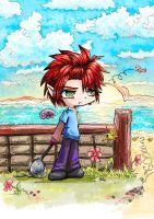 Fray goes to the beach by Arenheim