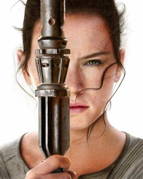 Star Wars Rey drawing by Heatherrooney