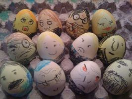 Harry Potter n the egg carton by ashsmashtrash