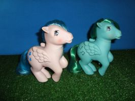 My Little Pony Toy 80's - Sprinkles and Medley by GraphicPlanetDesigns