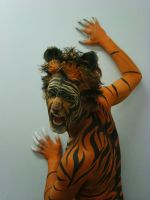 Tiger Bodyart by 1lonelyangel